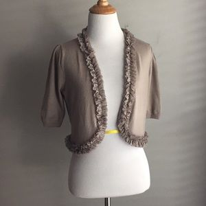 INC Short Sleeve Sweater with lace size Medium